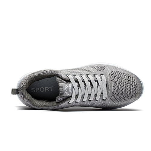 Mens Walking Schuhe Leichte atmungsaktive Laufschuhe Mesh Fashion Sneakers für Männer Grau