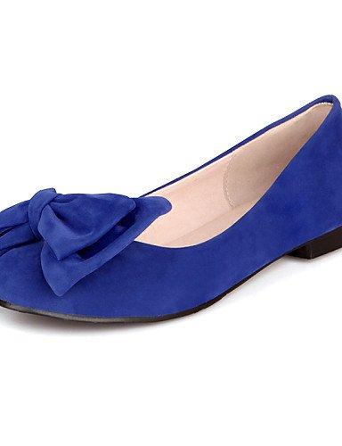 plano comodidad coral redonda negro del PDX eu36 rojo cn36 talón dedo carrera oficina us6 aire de pisos azul cerrado punta zapatos uk4 blue pie casual libre y al de mujer q1wwSYX8