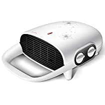 Mini Ceramic Fan Heater White Quiet Space Portable For Home And Office Use