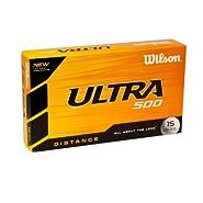 Wilson Ultra 500 Distance Golf Ball 15 Pack White WGWR58100