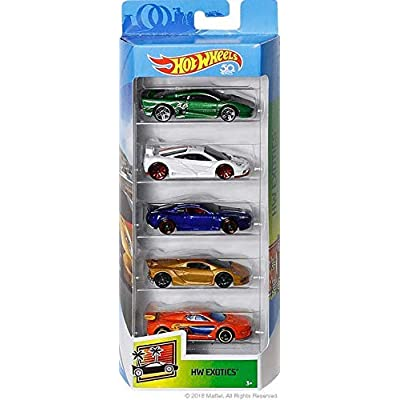 Hot Wheels 50th Anniversary 2020 HW Exotics 5-Pack: Toys & Games