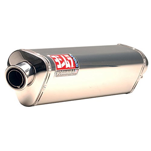 Yoshimura Tri-Oval TRS Race Slip-On Exhaust - Slip-On/Stainless by Yoshimura (Slip Oval Race Ons)