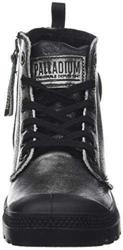 Black Palladium Stivaletti Argento Silver Donna Hi Pampa Zip 051 Pony wTS7Tv