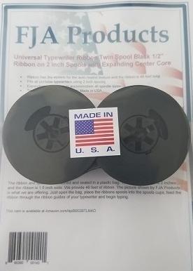FJA Products Universal Typewriter Ribbon Twin Spool Black 1/2'' Ribbon by FJA Products  (Image #1)