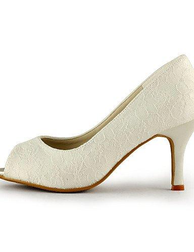 ivory 4in 3 Boda Tacones 3in de Marfil Blanco Noche Mujer 3 GGX Vestido Fiesta Punta y 3 boda 3 3in Tacones Zapatos ivory Abierta 4in 4HUwUqfT