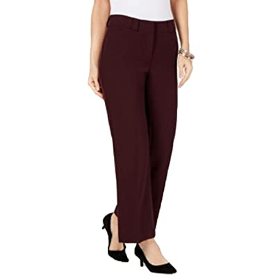 Alfani Petite Curvy Bootcut Pants (New Wine, 12P) (New Wine, 12P) at Amazon Women's Clothing store
