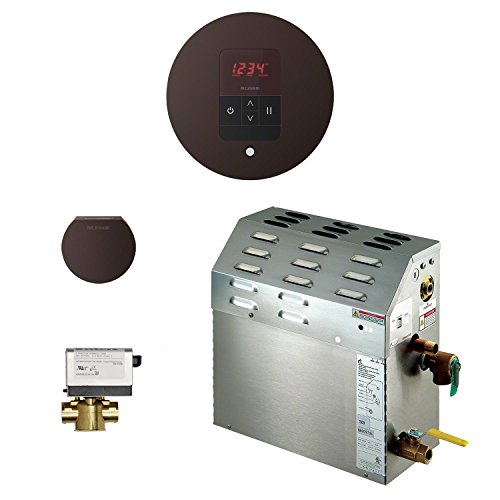 Mr Steam 400C1ATRDORB - eSeries 9kW Steam Bath Generator at 240V with iTempo Temperature Round Control Oil-Rubbed Bronze with matching AromaSteam steam head. For generator models MS90E to MSSUPER6E.