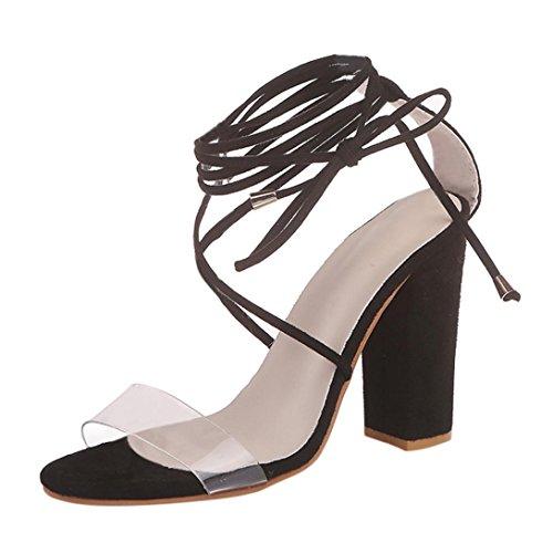 Lolittas cuña 10 Slingback tacón para Negro Sandalias con plataforma Amarillo Wide Fit de Tamaño Punta Gladiador 1 con cordones abierta Zapatos alto mujer Negro vrfq5vBw