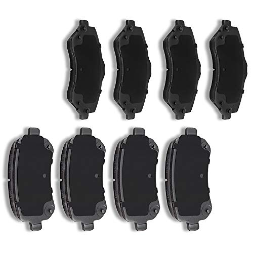 SCITOO Ceramic Pads Front Rear Brakes Pad fit for 2008-2012 2014-2016 Chrysler Town Country,2008-2011 Dodge Grand Caravan,2009-2013 Dodge Journey,2012-2015 Ram C/V,2009-2012 Volkswagen Routan