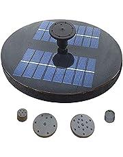 Funien Piscina com bomba de água solar Fonte solar com lagoa de jardim Pulverizadores de água com pulverizador Fonte solar com jardim lagoa decoração fonte