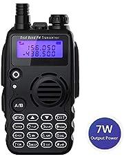 Radioddity GA-5S Radio ricetrasmittente Dual Band UHF VHF tre livelli di Potenza 7W/5W/1W con torcia di illuminazione, batteria da 1800mAh ed auricolare