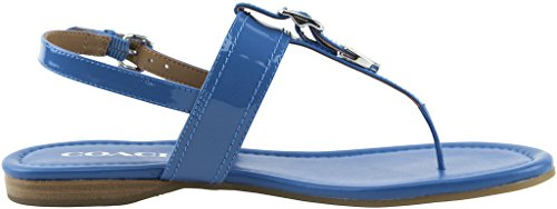 Coach Women's Cassidy Metallic Tumbled Sandals, Style A01580 Lapis Blue