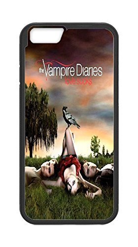 Hard plastic back case cover skin protective with The Vampire Diaries (Cr¨®nicas vamp¨ªricas),Iphone6 Plus 5.5 cases,Tribal Print Picture Pattern Painting Design -(Black).