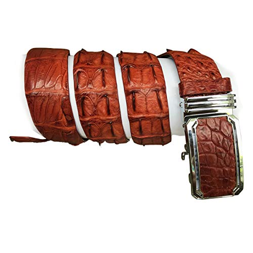 Vietnamcreations Men's Genuine Crocodiile Leather Belt Handmade Brown Nr08