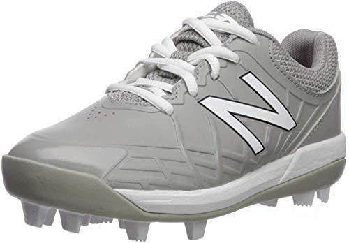 New Balance Boys' 4040v5 Molded Running Shoe, Grey/White, 5.5 W US Big Kid