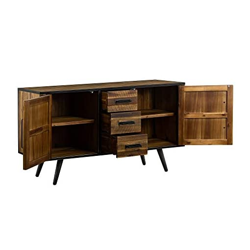 Farmhouse Buffet Sideboards Cusco Acacia Wood Dining Buffet, Cabinet Credenza, Storage, 57″ Wide, Antique farmhouse buffet sideboards