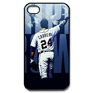CTSLR MLB Detroit Tigers Miguel Cabrera Protective Hard Case Cover Skin for Apple iPhone 4/4s- 1 Pack - Black/White - 5 by runtopwell