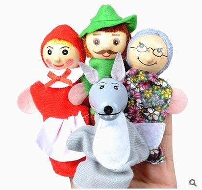 Beito 4 Red Riding Hood finger puppets gifts baby educational toys