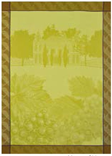 Le Jacquard Francais paño Vines, algodón peinado, Uva, 80 x 60 x 0.1