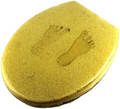 RBZCCP 樹脂便座および降順ユニバーサルスチールヒンジゴールド便座33-39 * 42〜46センチメートル ほとんどのトイレに適合