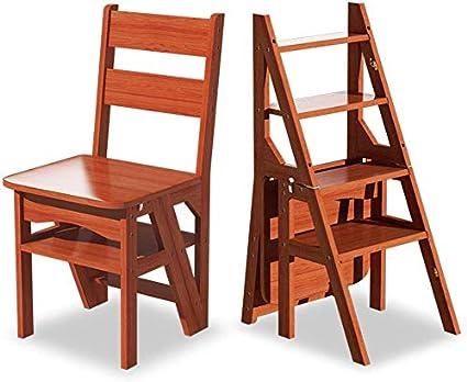 STOOL Escalera de mano Taburetes de casa, escalera de tijera plegable Taburete de madera de 4 peldaños para adultos Cocina de niños Escaleras de madera Taburetes de pie pequeños Banco de zapatos