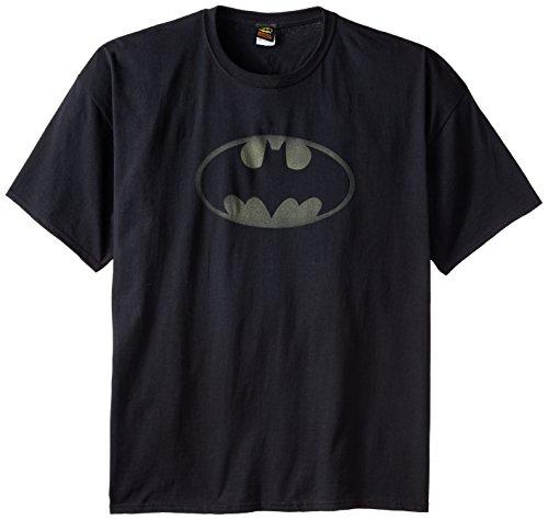 DC Comics Men's Big-Tall Batman Logo T-Shirt, Black, 5X-Large ()