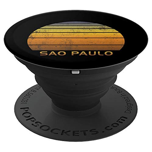 Retro Sao Paulo Brazil - PopSockets Grip and Stand for Phones and Tablets
