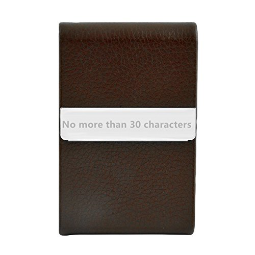 Ayliss Custom Engraved Business Card Holder Personalized Text Card Case,Brown-customed by Ayliss (Image #3)