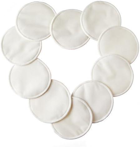 10pcs Discos de lactancia de bambú orgánico lavables Naturales ...