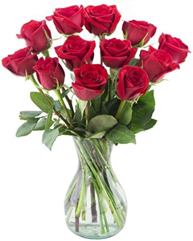 Delivery by Monday, May 10th Dozen Red Roses by Arabella Bouquets