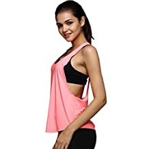 Vest, Malltop Women Sexy Loose Gym Sport Vest for Training or Running