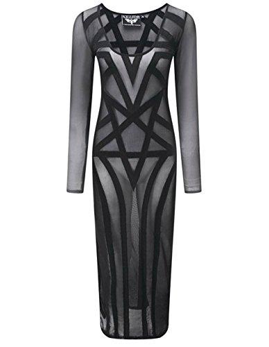 Mujer Killstar Vestido Para Negro Recto CSS1Zq