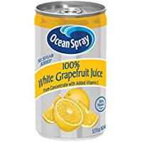 48 Packs Ocean Spray 100% White Grapefruit Juice 5.5 Ounce Mini Cans