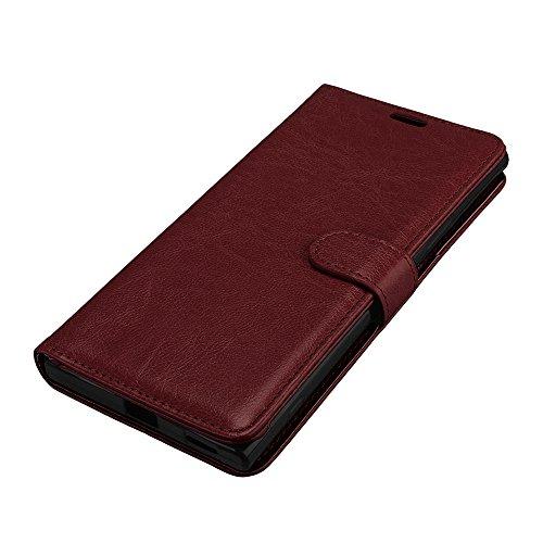 Funda Sony Xperia XA 1 Ultra, Ecoway [3 ranuras para tarjetas] Serie retro Cuero de la Scrub PU Leather Cubierta, Función de Soporte Billetera con Tapa para Tarjetas Soporte para Teléfono para Sony Xp A-5