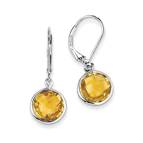 Sterling Silver Citrine Earrings by CoutureJewelers