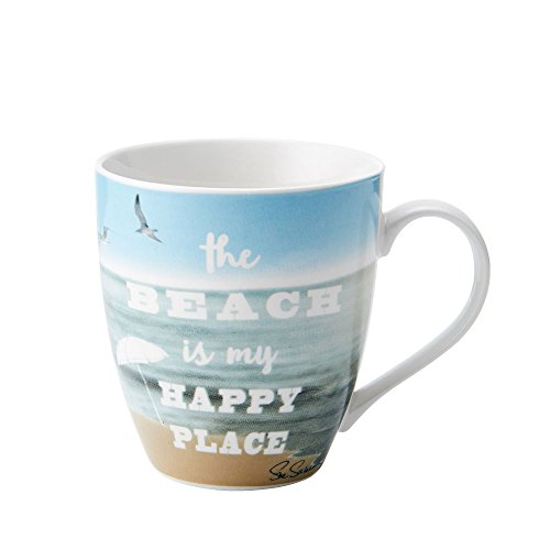 Pfatlzgraff Sentiment 18oz Mug (The Beach Is My Happy Place)