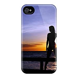 Hot pc Cover Case For Iphone/ 4/4s Case Cover Skin - Sunset Woman