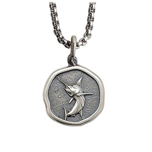 - Guy Harvey Marlin Necklace Sterling Silver on 22