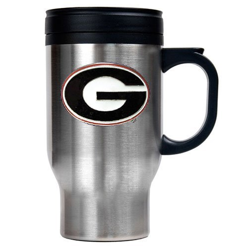 NCAA Georgia Bulldogs 16oz Stainless Steel Travel (Georgia Bulldogs Ncaa Thermal)