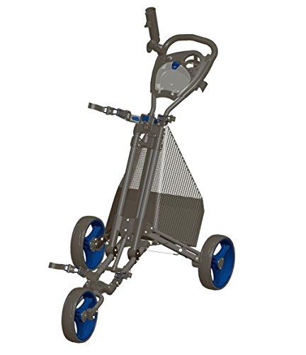 Carrito de golf - Plegado fácil - Carbón / Azul - GCPro2-CB