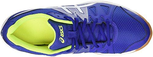 Asics Gel-Upcourt, Zapatillas de Voleibol para Hombre Multicolor (Asics Blue/White/Safety Yellow)