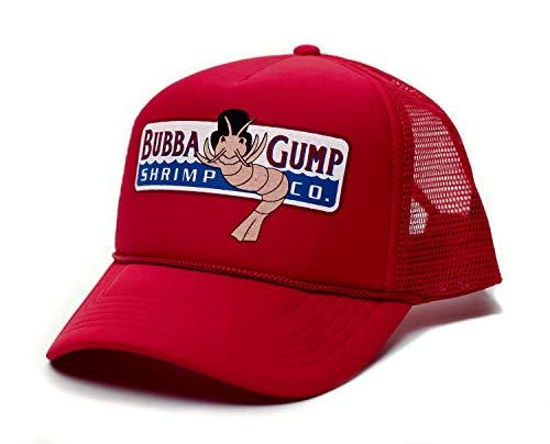 Posse Comitatus Bubba Gump Shrimp Co. Printed Unisex Adult Truckers Hat Cap Red Solid