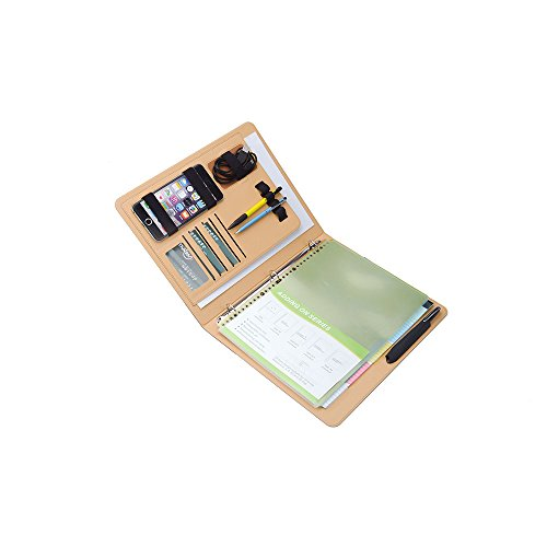 iCarryAlls 3-Ring Binder Portfolio with 3/4 inch Round Ring,Holds Five Colours Transparent Bags Document Storage