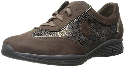 Calfskin Womens Casual Shoes - Mephisto Women's Yael Walking Shoe, Chestnut Bucksoft/Bronze Lunar/Taupe Perl Calfskin, 6 M US