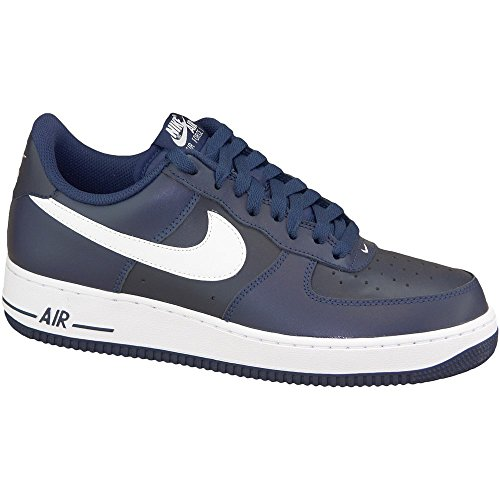 (Nike Air Force 1 Men's Shoe Midnight Navy/White 488298-436 (11 D(M))