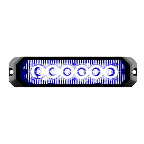 GG Grand General 81816 5 Inch Rect. Blue/Clear 6 Led Strobe Light, 14 Modes, 9~36V by GG Grand General