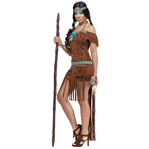 FunWorld Medicine Woman, Brown, 2-8 Small Costume