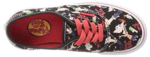 Chaussures Authentic Vans - Noir Phineas&Ferb/Blanc True