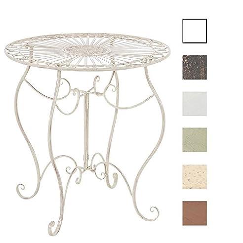 Gartentisch rund metall antik  Amazon.de: CLP Eisen-Tisch INDRA, rund Ø 70 cm, Höhe 72 cm ...