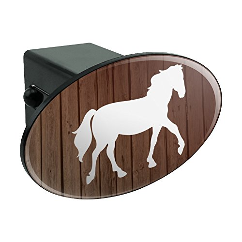 Graphics and More Horse Silhouette Cowboy Western Oval Tow Hitch Cover Trailer Plug Insert (Horse Hitch Cover)